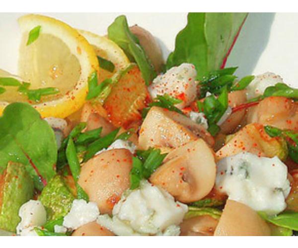 Рецепт                  Салат из кабачков, шампиньонов и сыра