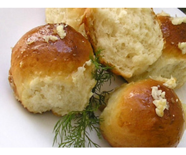 Рецепт                  Пампушки с чесноком