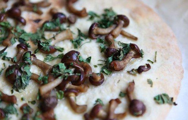 Рецепт                  Постная пицца с опятами