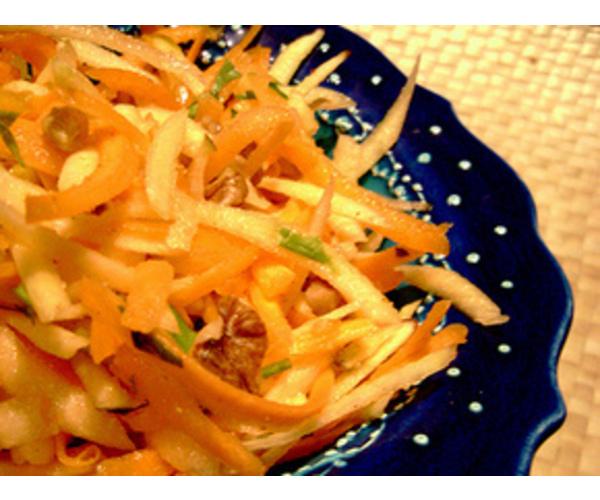 Рецепт                  Морковно-яблочный салат