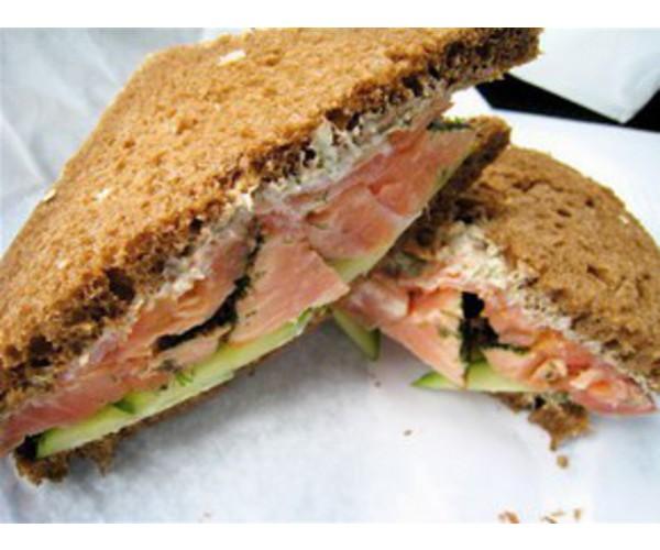 Рецепт                  Сэндвич с лососем