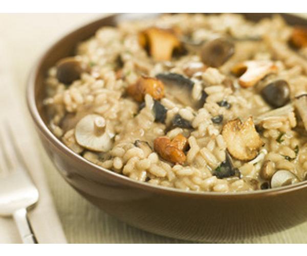 Рецепт                  Ризотто с грибами, сыром и чесноком