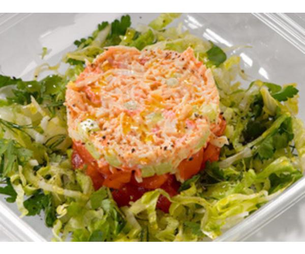 Рецепт                  Салат с крабами и помидорами