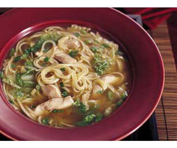 Рецепт                  Китайский суп с курицей и шпинатом