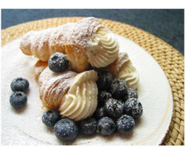 Рецепт                  Трубочки со сливками