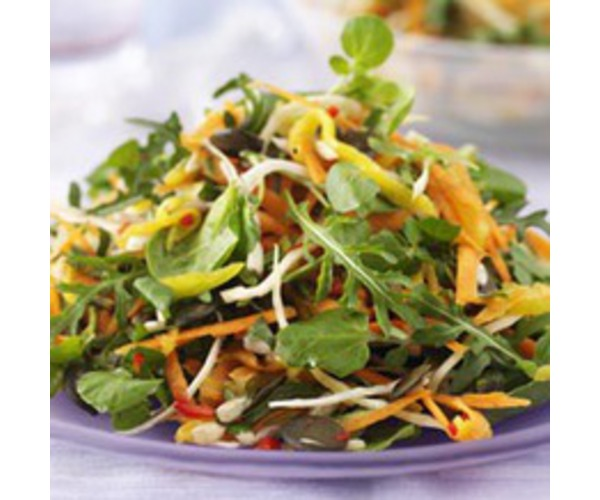 Рецепт                  Овощной салат с манго и чили