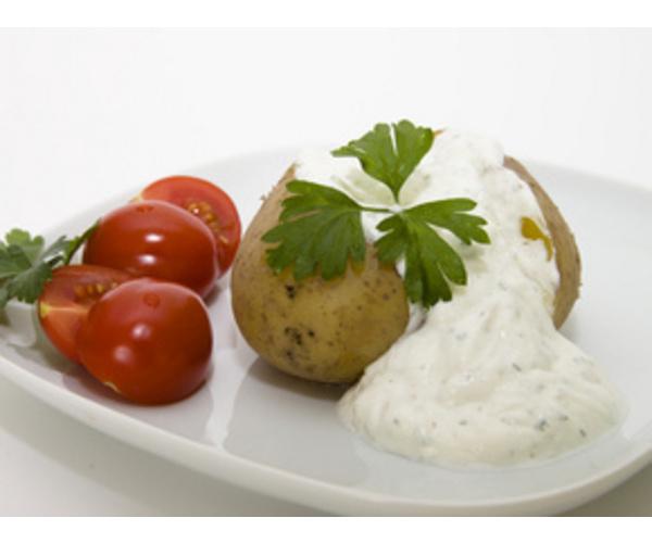 Рецепт                  Картофель в мундире с сырным соусом