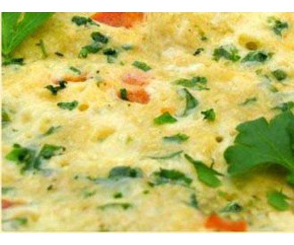 Рецепт                  Омлет с зеленью