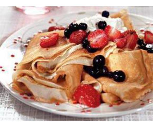 Рецепт                  Блинчики с ягодами
