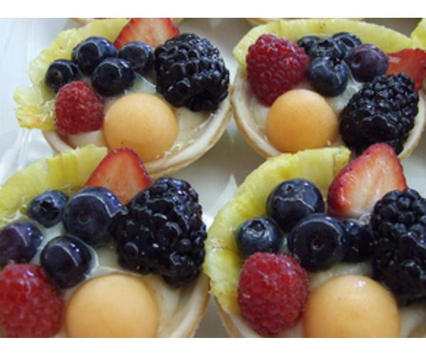 Рецепт                  Корзиночки с ягодами и желе