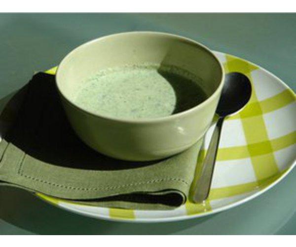 Рецепт                  Холодный огуречный суп с мятой