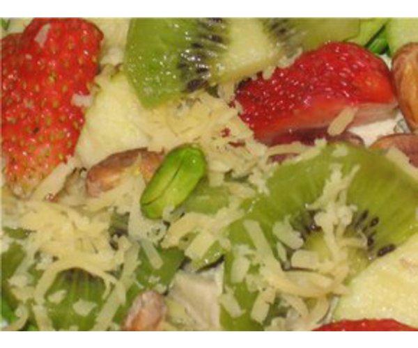 Рецепт                  Салат из курицы, киви и клубники