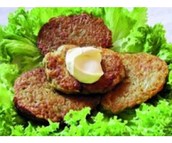 Рецепт                  Деруны с мясом