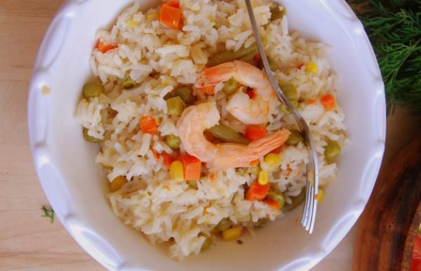 Рецепт                  Постный рис с овощами