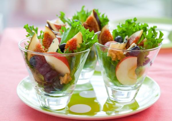 Рецепт                  Салат из инжира, яблок и сыра