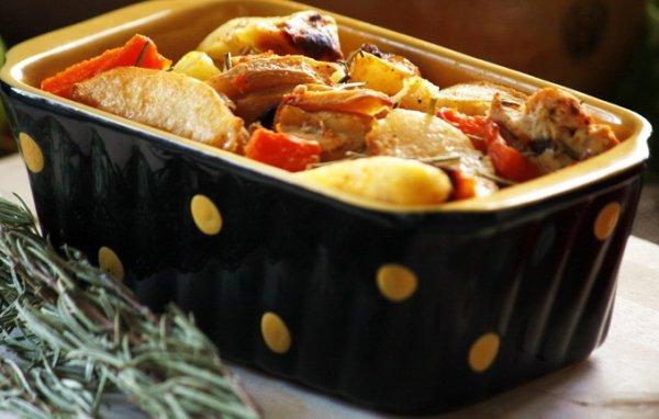 Рецепт                  Осеннее жаркое с тыквой