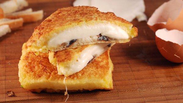 Рецепт                  Горячие сэндвичи с моцареллой