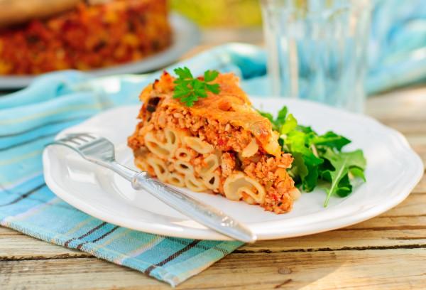 Рецепт                  Запеканка из макарон с соусом болоньезе