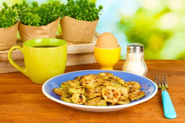 Рецепт                  Жареные кабачки в панировке
