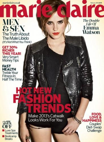 Артистка Эмма Уотсон украсила обложку февральского номера издания Marie Claire.UK.