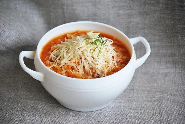 Рецепт                  Минестроне из савойской капусты с рисом