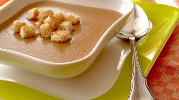 Рецепт                  Фасолевый суп-пюре с грибами