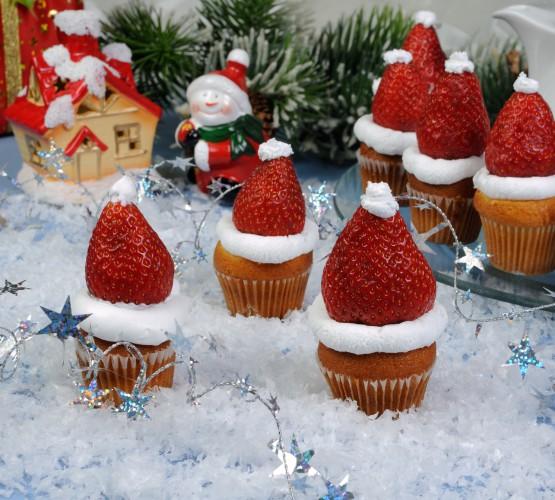Рецепт                  Детский Новый год: Шапка Санта-Клауса