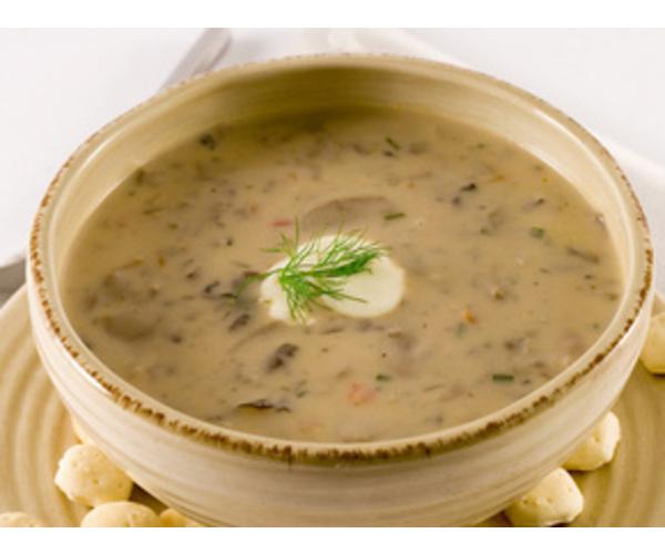 Рецепт                  Пряный грибной суп на сливках