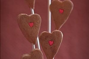 Завлекательные марципановые сердечки