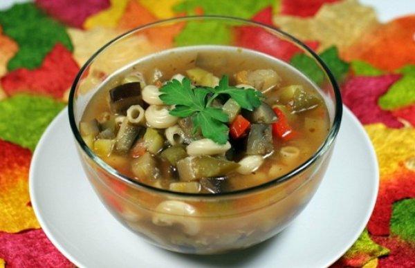 Рецепт                  Суп-рататуй с пастой