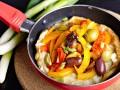 Омлет с оливками и сладким перцем