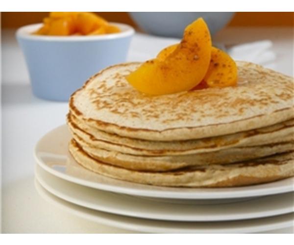 Рецепт                  Блины с персиками