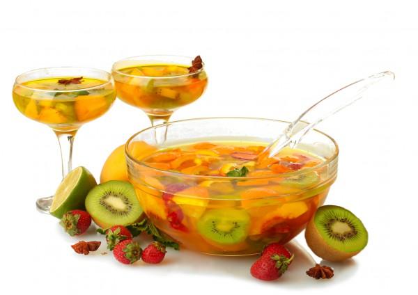 Рецепт                  Тропический пунш с фруктами
