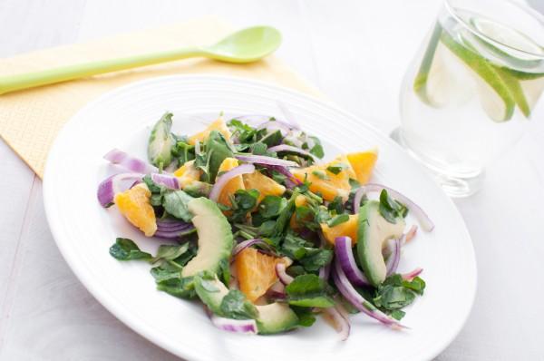 Рецепт                  Постный салат из апельсинов и зелени
