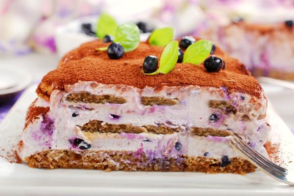 Рецепт                  Десерты на Новый год: Тирамису с черникой
