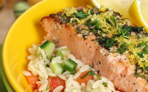 Рецепт                  Воскресный обед: Рисини с лососем и овощами