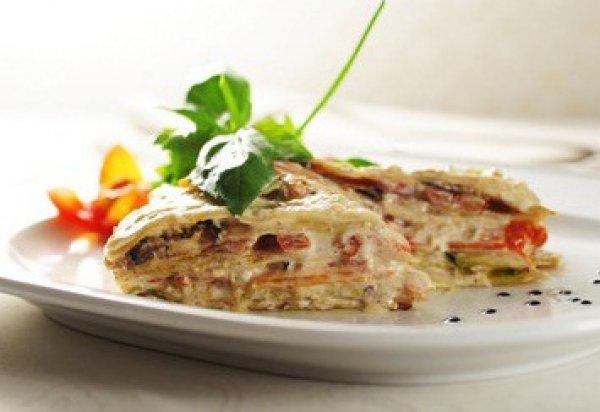 Рецепт                  Постная лазанья с овощами