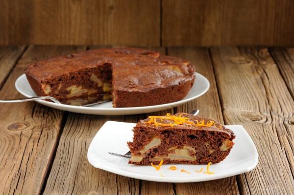 Рецепт                  Шоколадный пирог с яблоками и творогом