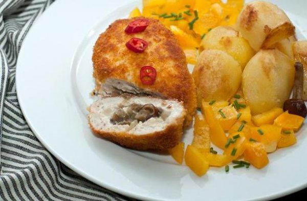 Рецепт                  Куриные зразы с грибами