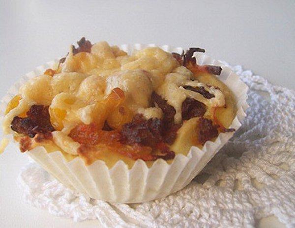 Рецепт                  Картофельные корзиночки с мясным фаршем и кукурузой