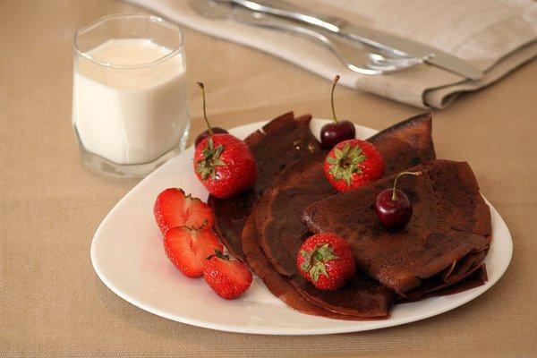 Рецепт                  Шоколадные блины