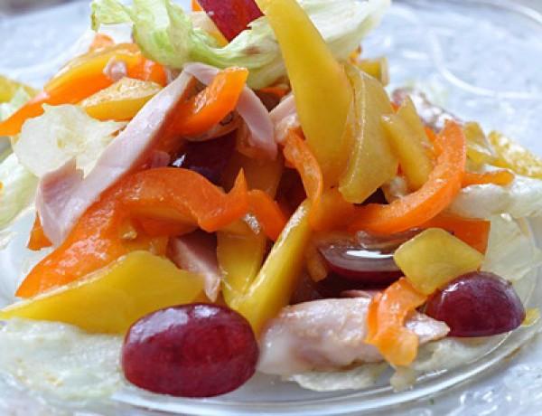 Рецепт                  Салат из курицы с манго и виноградом
