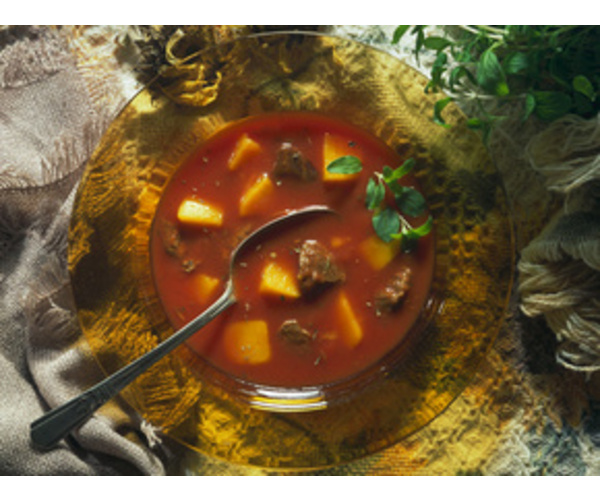 Рецепт                  Томатный суп с говядиной