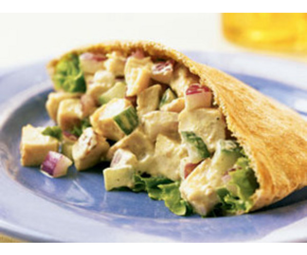 Рецепт                  Пита с курицей и овощами