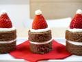 Как приготовить пирожные Шапка Санта-Клауса