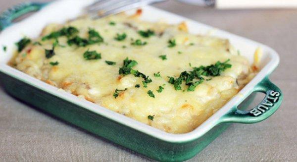 Рецепт                  Грибы, запеченные в сметане с сыром