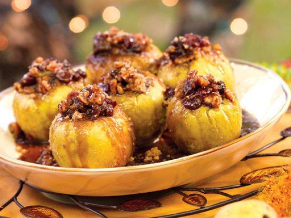 Рецепт                  Запеченные яблоки с изюмом и орехами