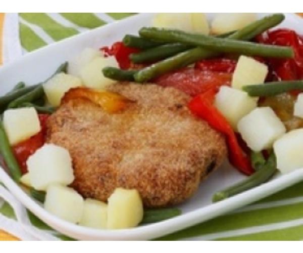 Рецепт                  Котлеты с овощным гарниром