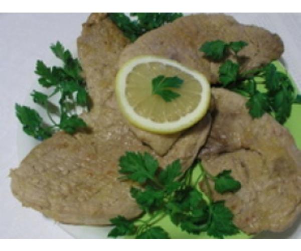 Рецепт                  Шницеля в лимонном соусе