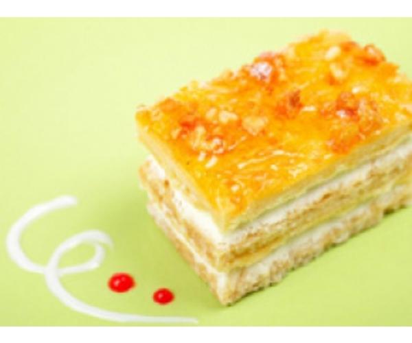 Рецепт                  Творожное пирожное с джемом